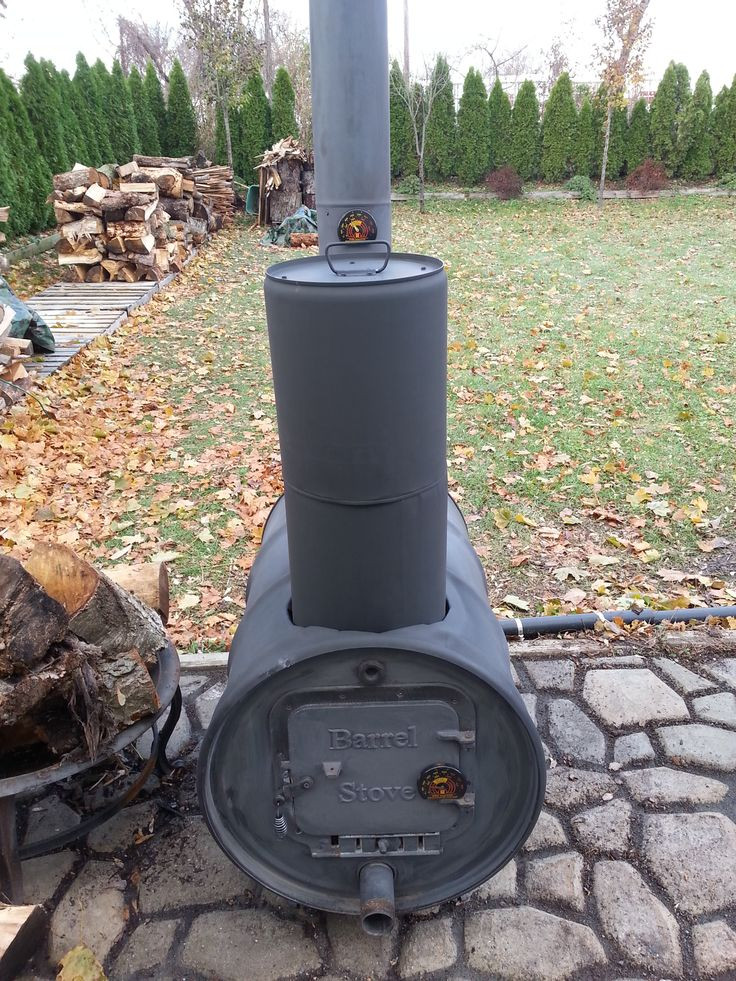 DIY Outdoor Wood Furnace  74 best images about DIY Barrel Stove Outdoor Furnace on