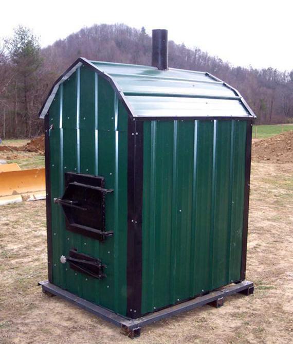 DIY Outdoor Wood Furnace  Build your own wood burning outdoor furnace DIY Plans Fun to