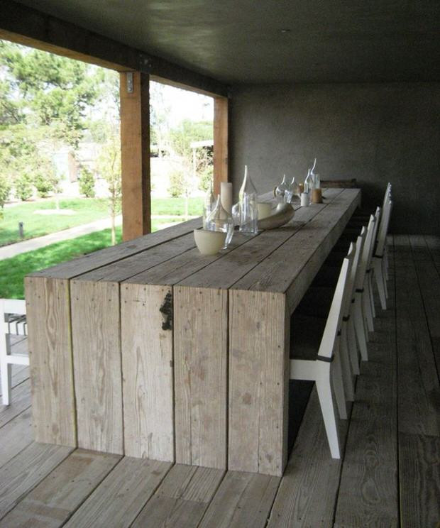 DIY Outdoor Wooden Table  DIY Outdoor Dining Table Projects • The Garden Glove