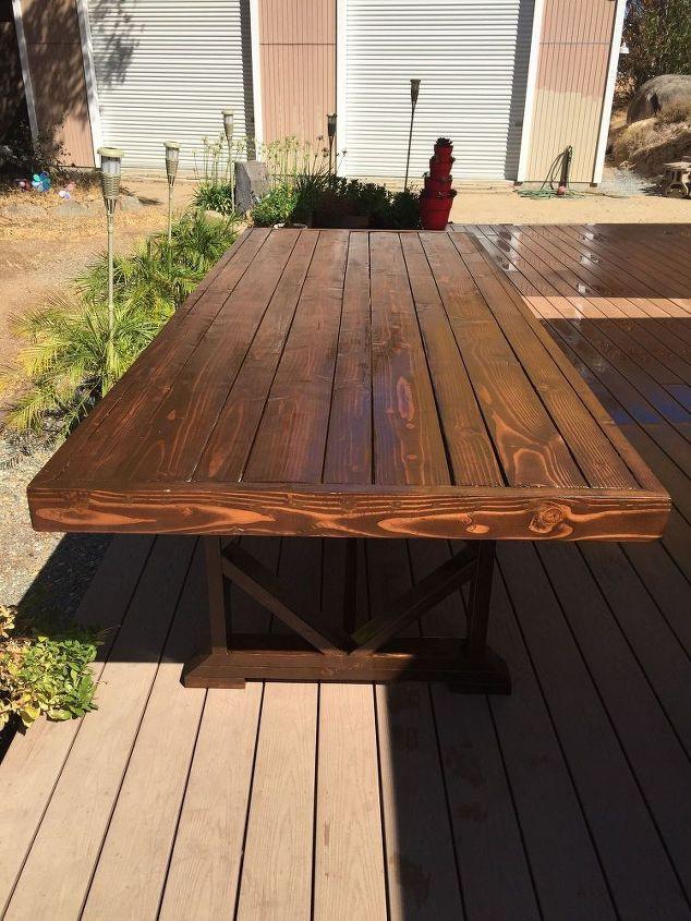 DIY Outdoor Wooden Table  DIY Outdoor Dining Table Seats 10 12