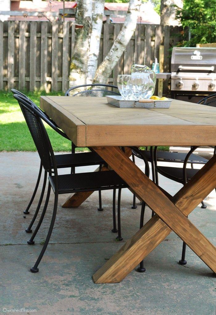 DIY Outdoor Wooden Table  DIY Outdoor Table