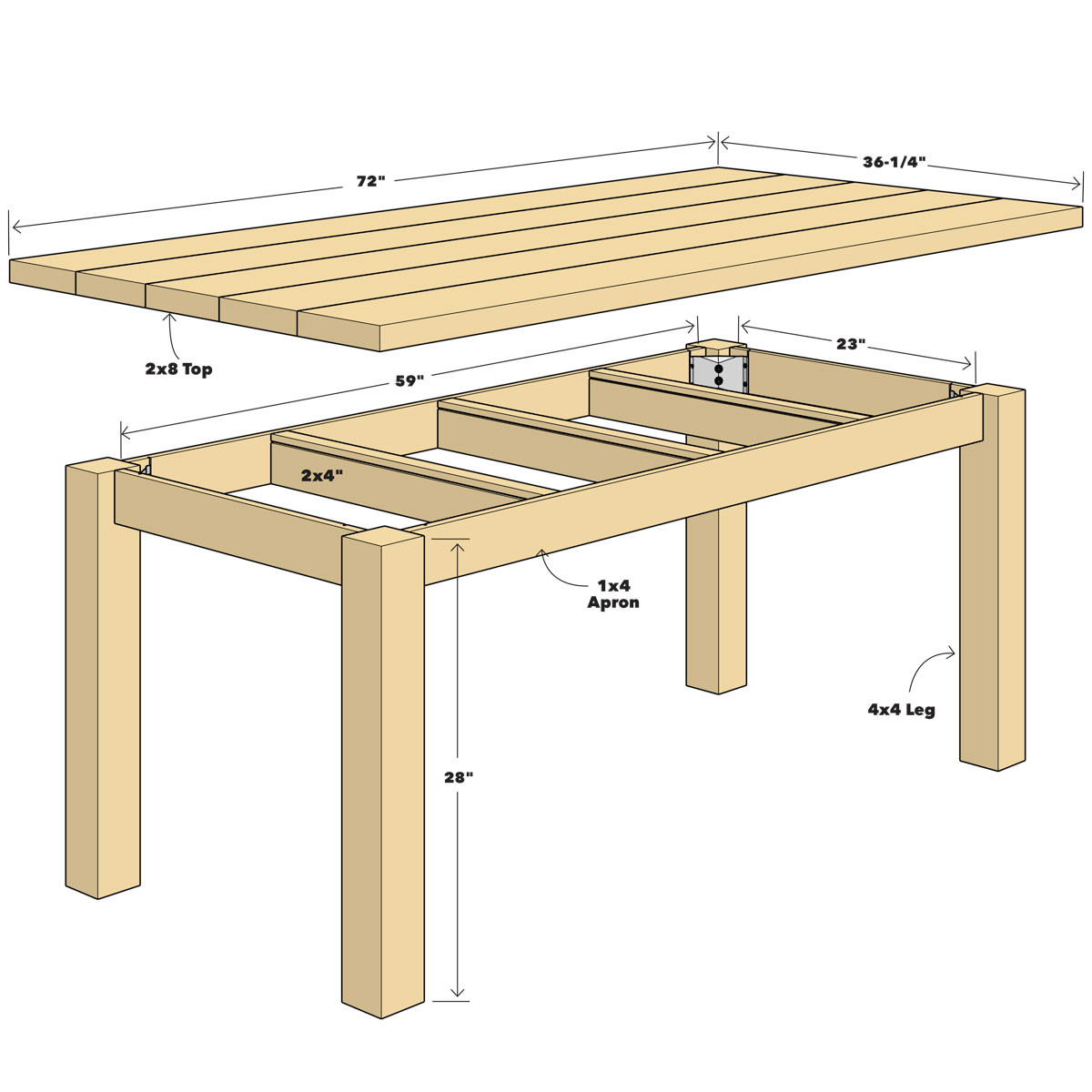 DIY Outdoor Wooden Table  Build a Simple Reclaimed Wood Table