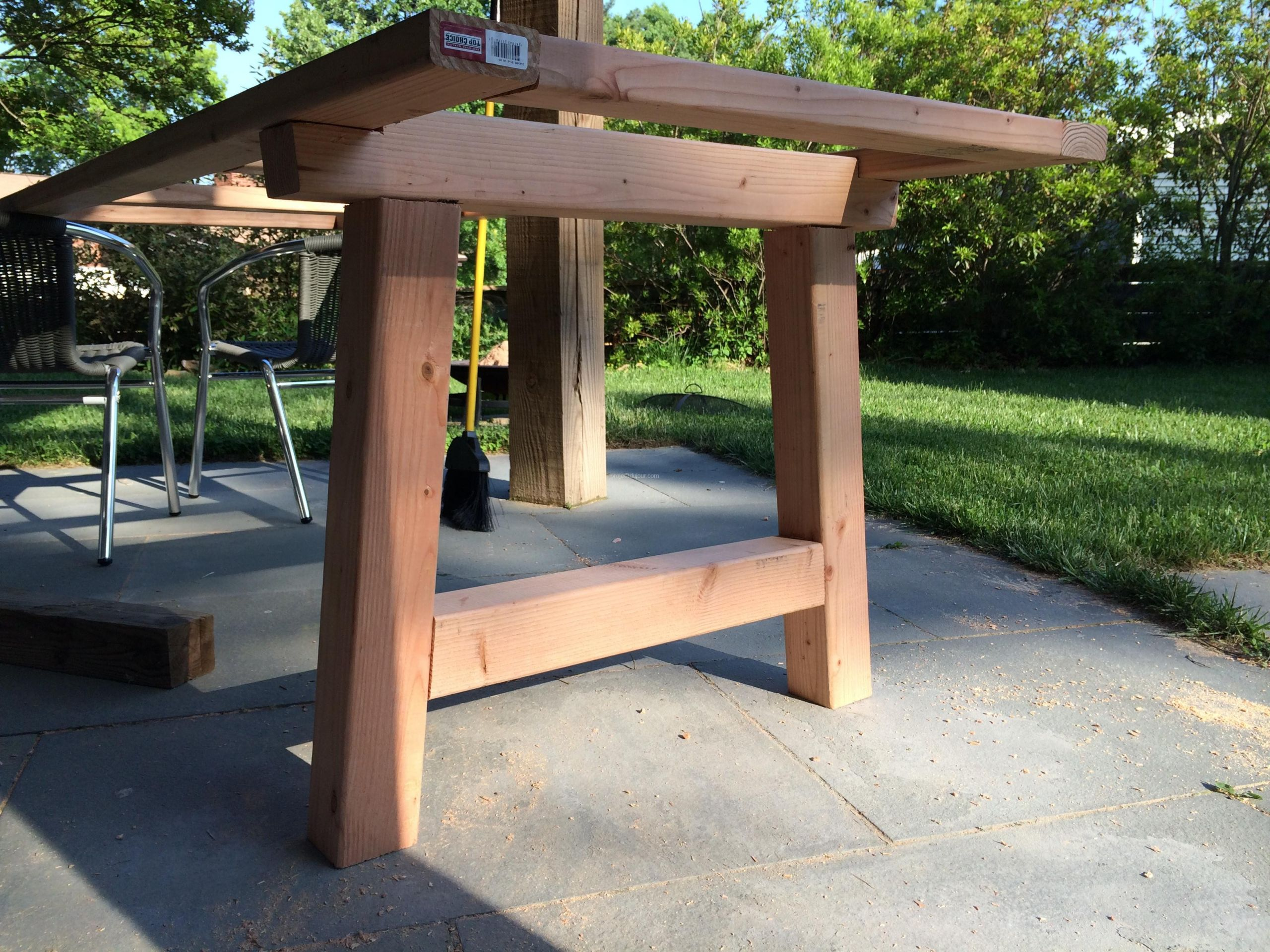 DIY Outdoor Wooden Table  Outdoor Table Project du Jour