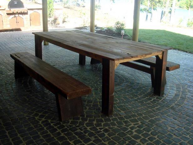 DIY Outdoor Wooden Table  Woodwork Diy Wood Outdoor Table PDF Plans