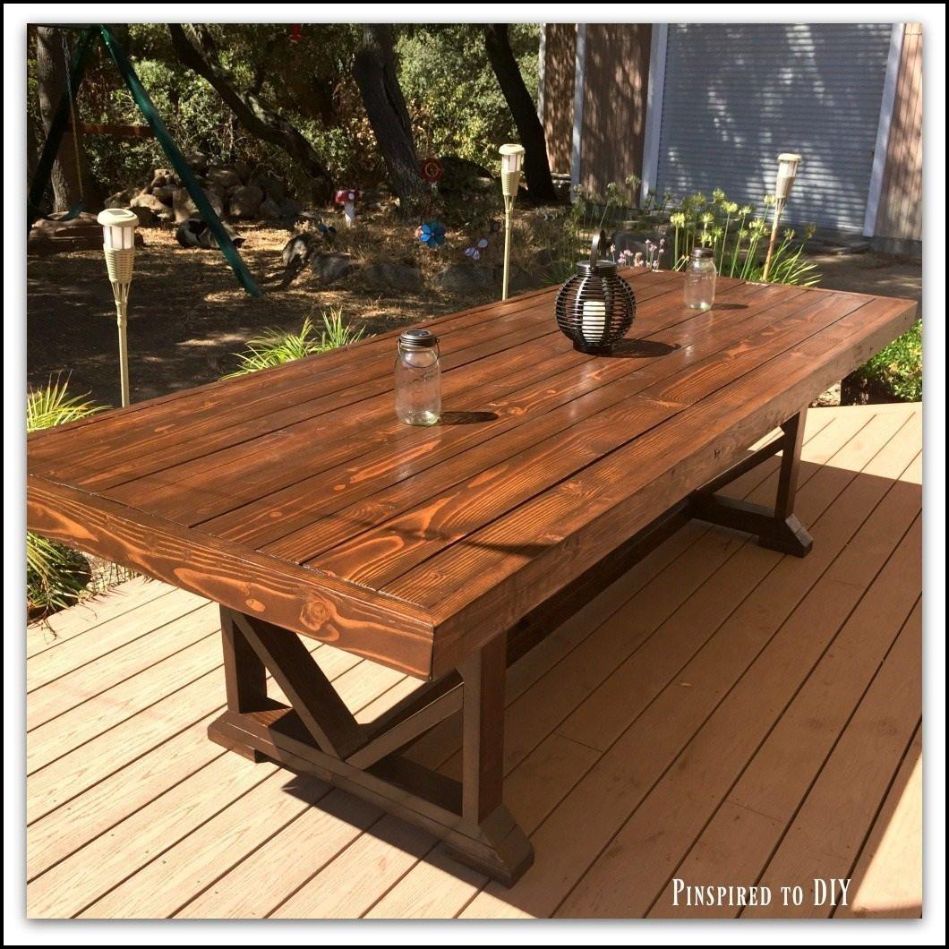 DIY Outdoor Wooden Table  DIY Outdoor Dining Table