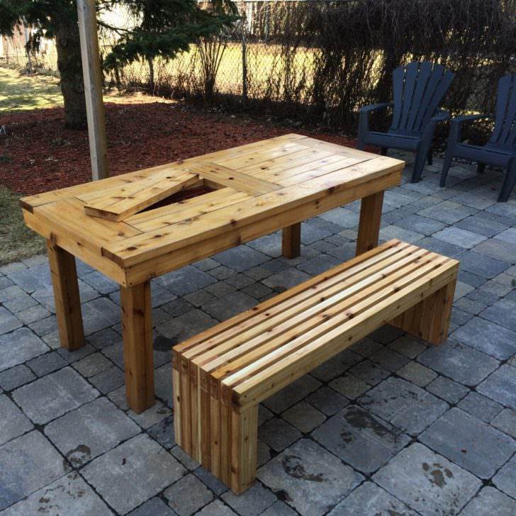 DIY Outdoor Wooden Table  Outdoor Wooden Bench The Best Place to Seat 1001 Gardens