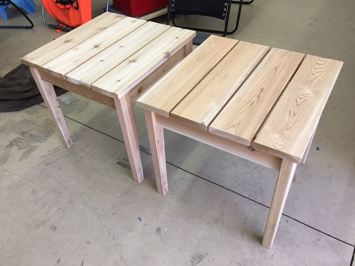 DIY Outdoor Wooden Table  Simple Outdoor Side Table