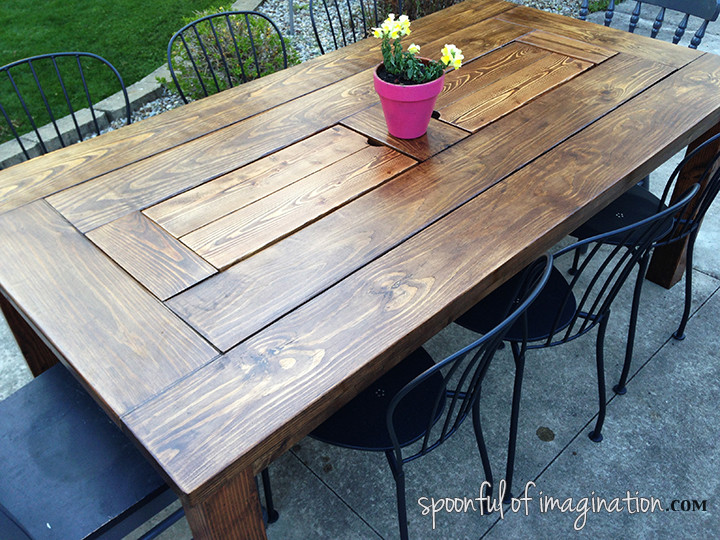 DIY Outdoor Wooden Table  DIY Outdoor Table Spoonful of Imagination