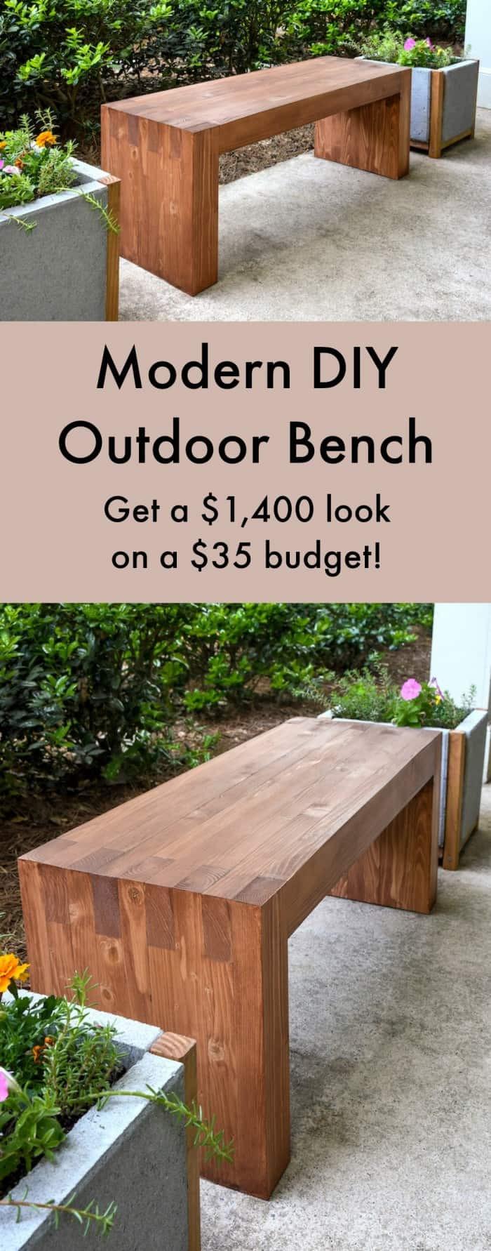 DIY Outdoor Workbench  Williams Sonoma inspired DIY outdoor bench diycandy