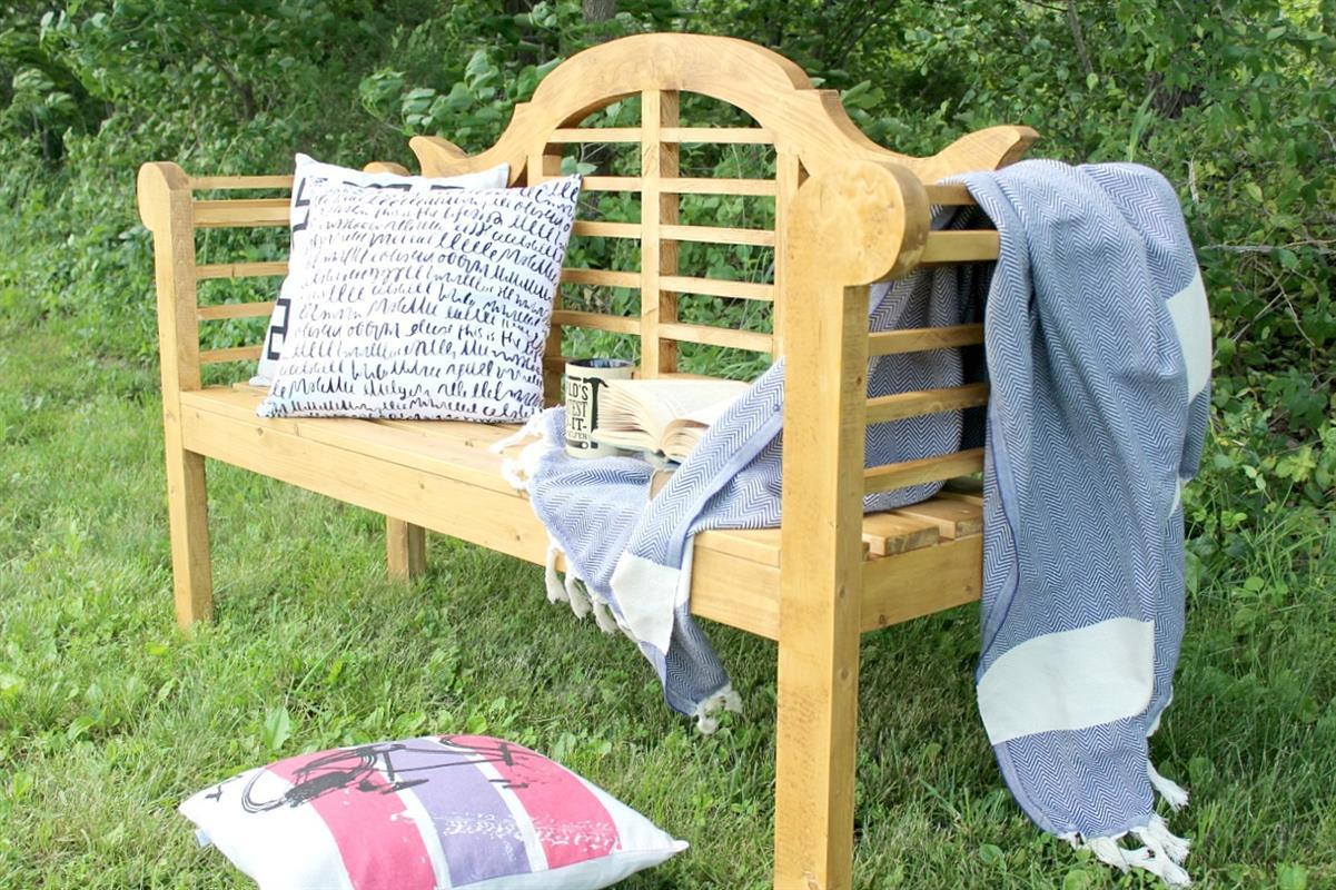 DIY Outdoor Workbench  DIY Outdoor Lutyens Bench buildsomething