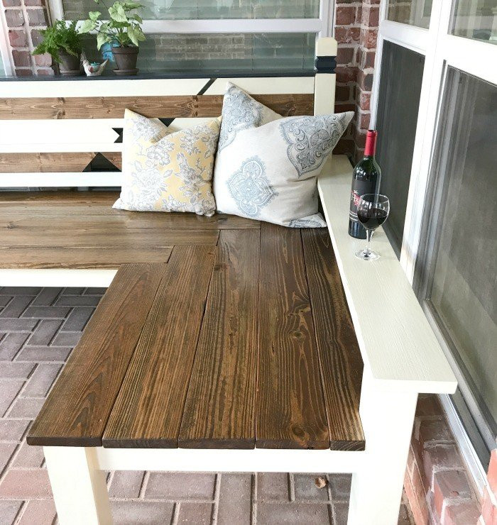 DIY Outdoor Workbench  Outdoor DIY L Shaped Bench Build just $130 Abbotts At Home