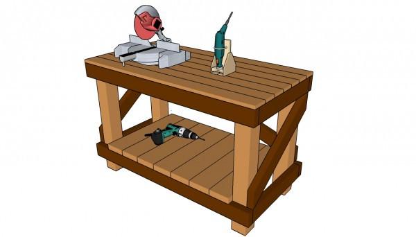 DIY Outdoor Workbench  Diy Workbench Plans MyOutdoorPlans