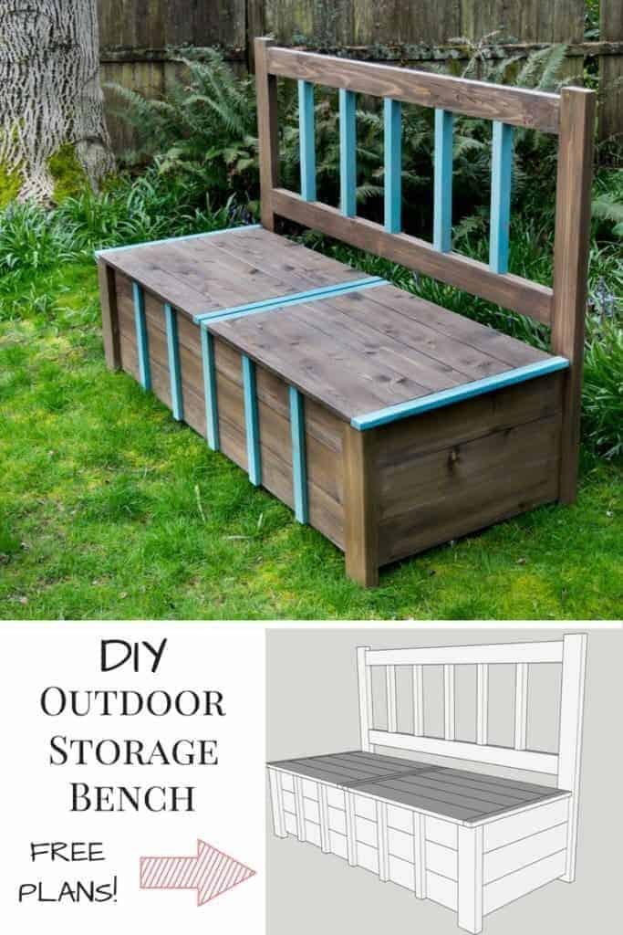 DIY Outdoor Workbench  e DIY Bench done over 100 different ways ⋆ Tamara s Joy