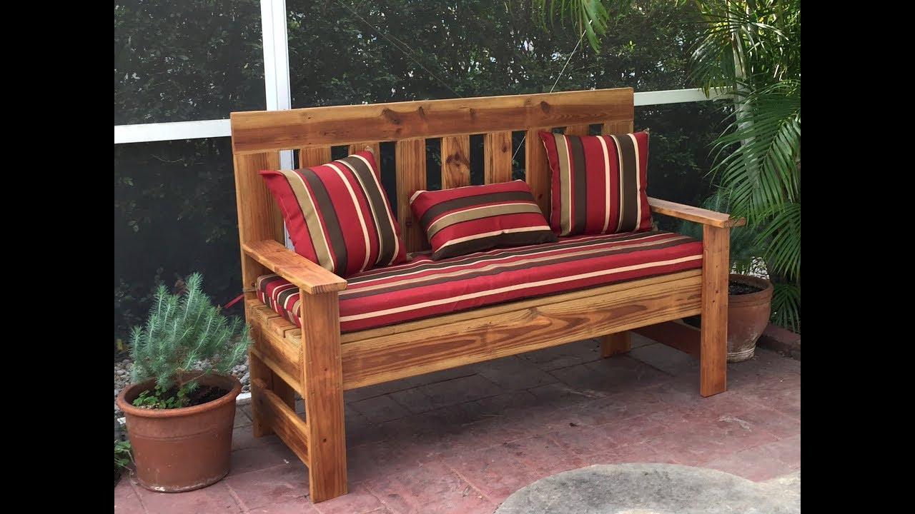 DIY Outdoor Workbench  Upcycled Wood Outdoor Bench Garden Bench DIY 60 inch