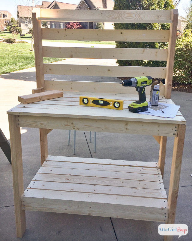 DIY Outdoor Workbench  18 DIY Potting Benches You ll Want to Show f • The