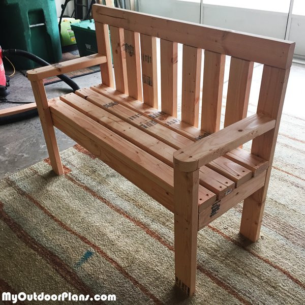DIY Outdoor Workbench  DIY 2x4 Wood Garden Bench MyOutdoorPlans
