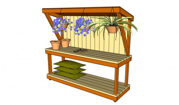 DIY Outdoor Workbench  Garden Work Bench Plans MyOutdoorPlans