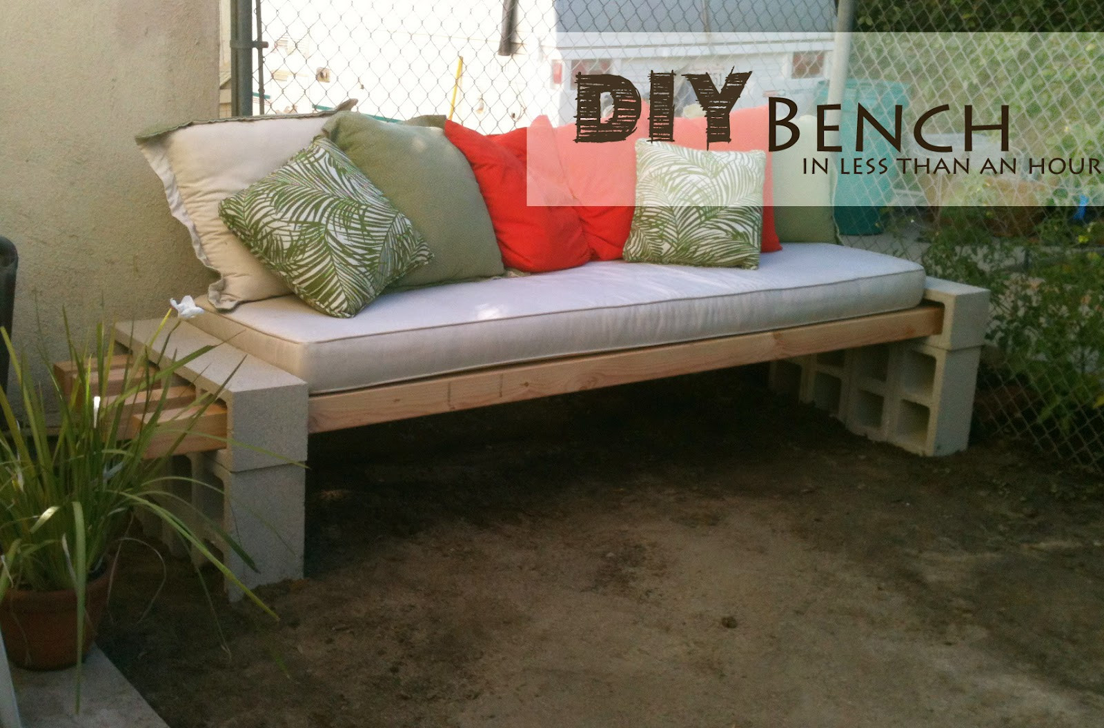 DIY Outdoor Workbench  DIY Outdoor Bench in less than an hour