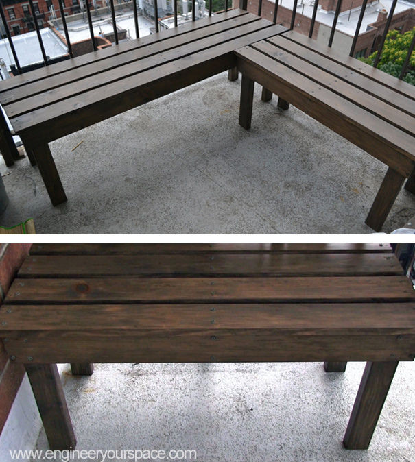 DIY Outdoor Workbench  DIY Outdoor Wood Bench 6 Steps with