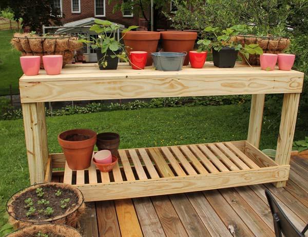 DIY Outdoor Workbench  DIY Potting Bench