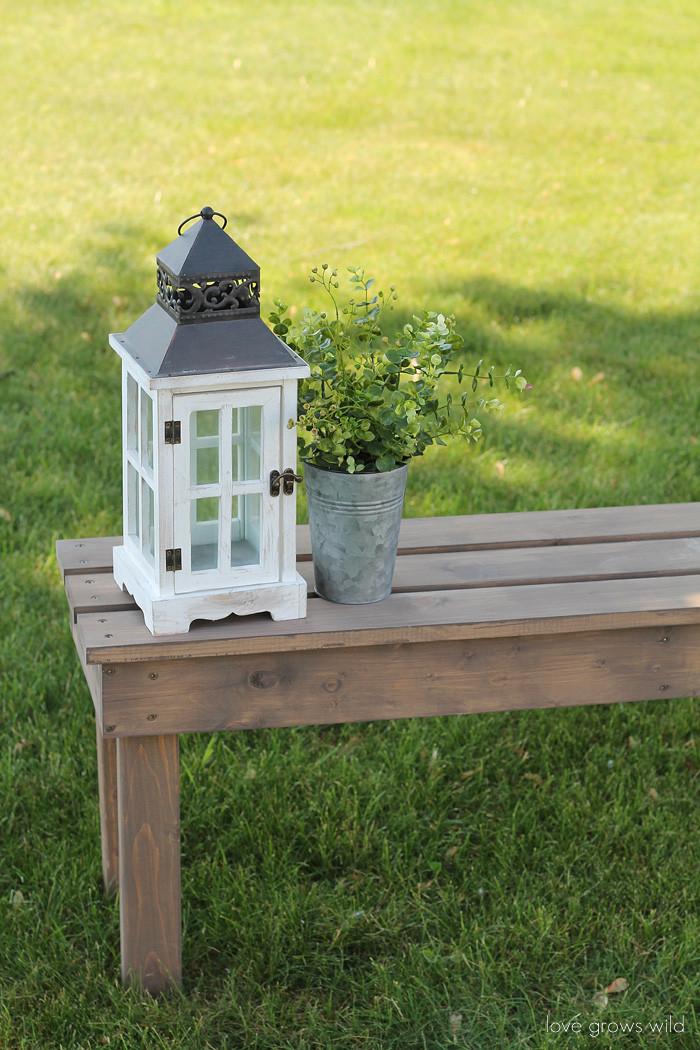 DIY Outdoor Workbench  Easy DIY Outdoor Bench Love Grows Wild