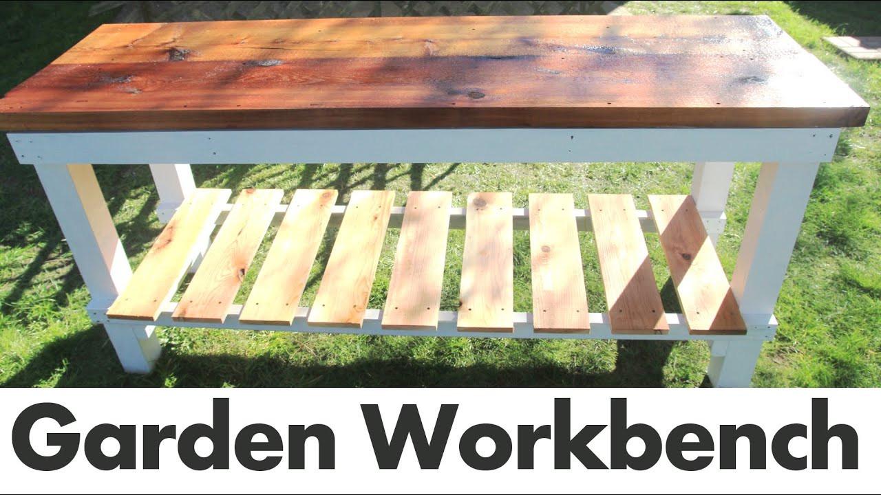 DIY Outdoor Workbench  DIY Outdoor Garden Work Bench