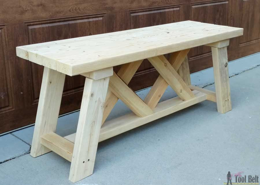 DIY Outdoor Workbench  How to Build an Outdoor Bench with Free Plans