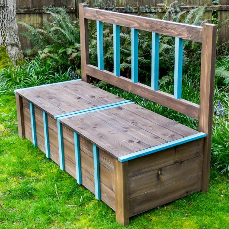 DIY Outdoor Workbench  DIY Outdoor Storage Bench The Handyman s Daughter