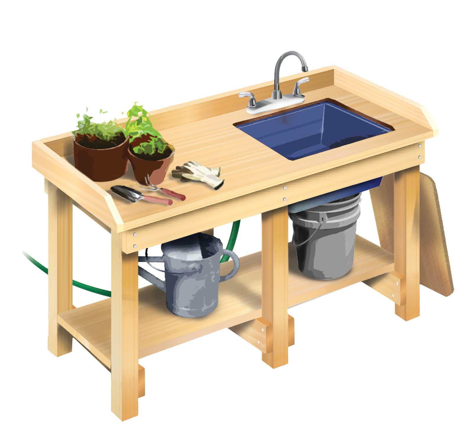 DIY Outdoor Workbench  How to Build a Workbench DIY MOTHER EARTH NEWS
