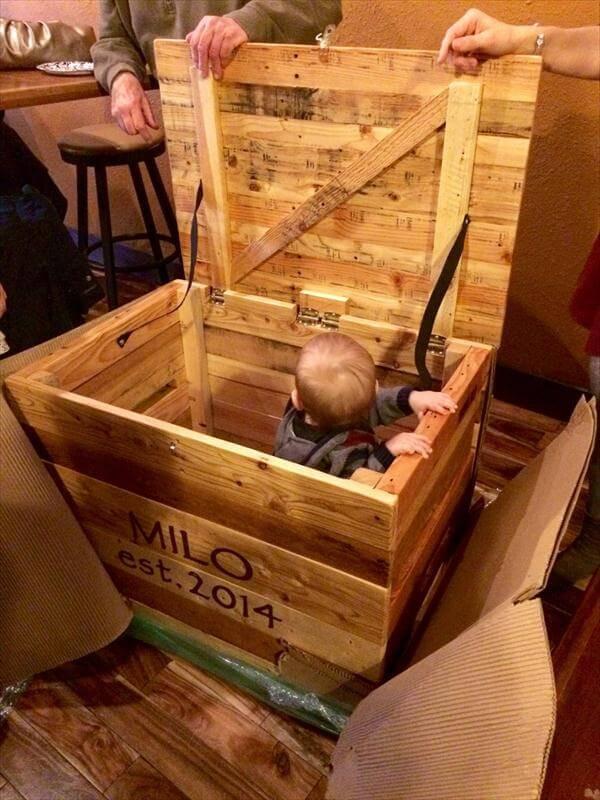 DIY Pallet Toy Box  DIY Pallet Storage Box Toy Chest