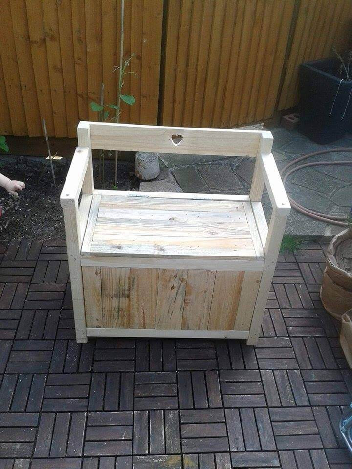 DIY Pallet Toy Box  DIY Pallet Toy Chest – Seat or Bench Easy Pallet Ideas