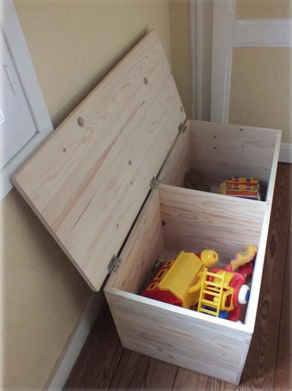 DIY Pallet Toy Box  DIY Pallet Storage Box Pallet Chest