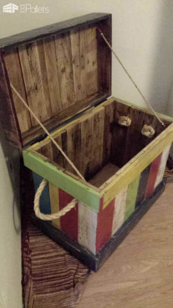 DIY Pallet Toy Box  Reclaimed Pallet Into Kids Toy Box • 1001 Pallets