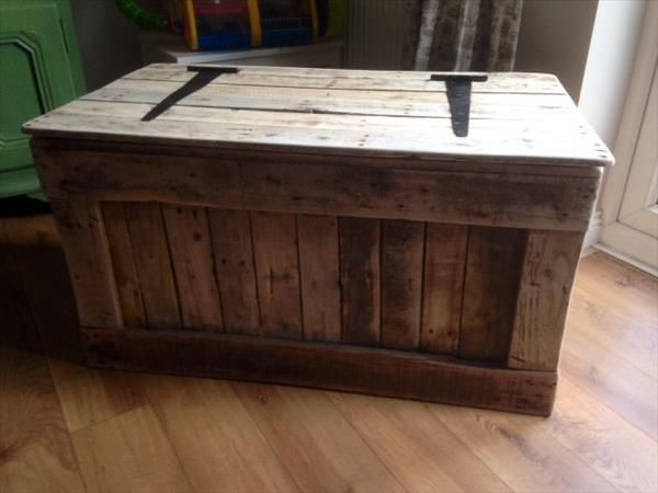 DIY Pallet Toy Box  Diy Pallet Toy Box For the Home