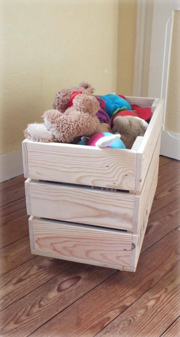 DIY Pallet Toy Box  DIY Pallet Toy Storage Box