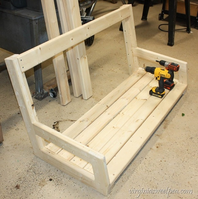 DIY Porch Swing Plans  DIY 2x4 Porch Swing Sweet Pea