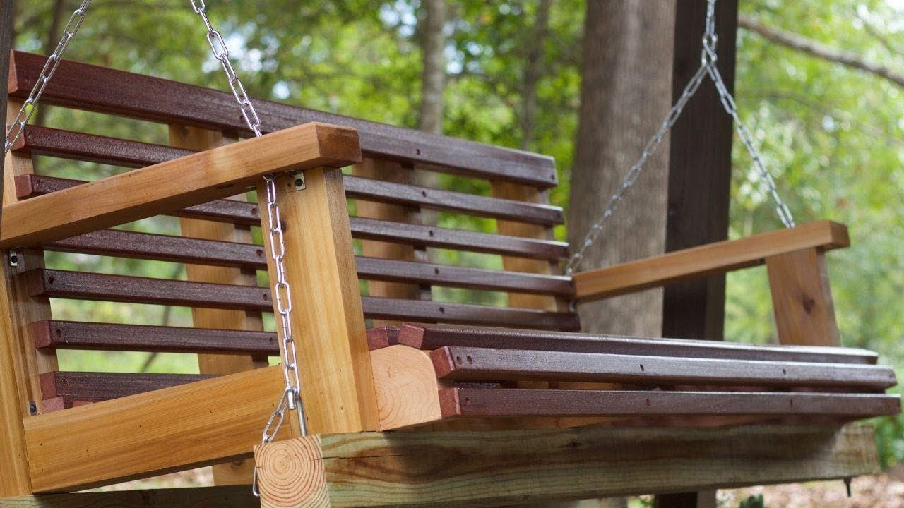 DIY Porch Swing Plans  DIY Porch Swing Build