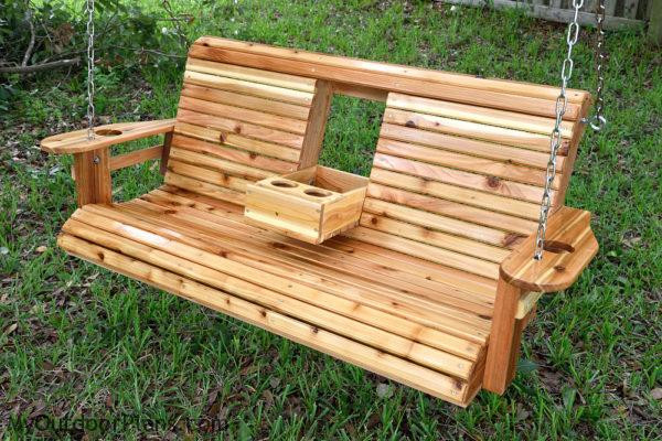 DIY Porch Swing Plans  DIY Wood Porch Swing MyOutdoorPlans