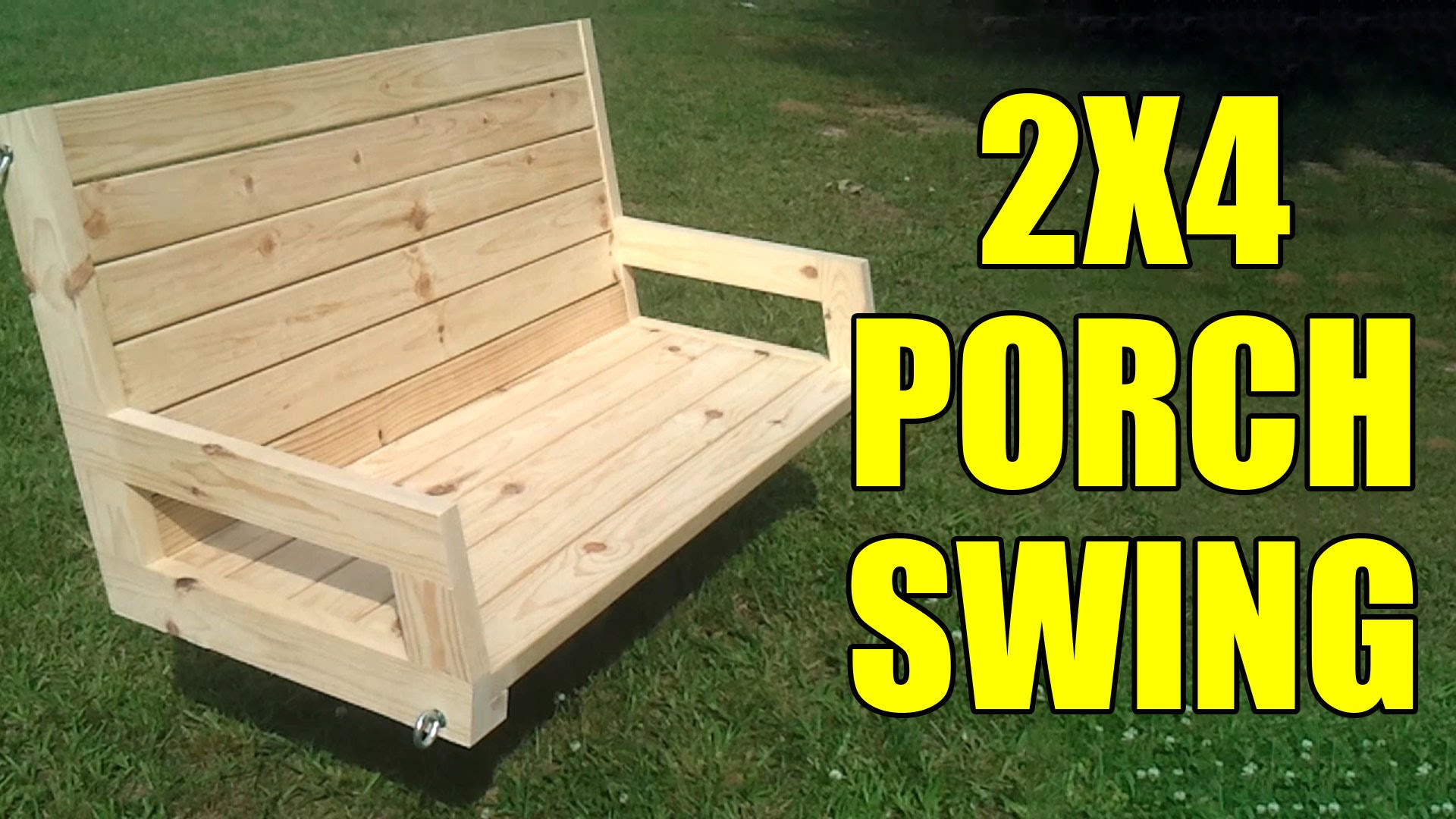 DIY Porch Swing Plans  How To Build A 2×4 Porch Swing
