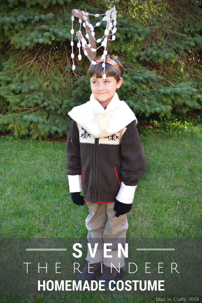 DIY Reindeer Costumes  Homemade Sven the Reindeer Costume