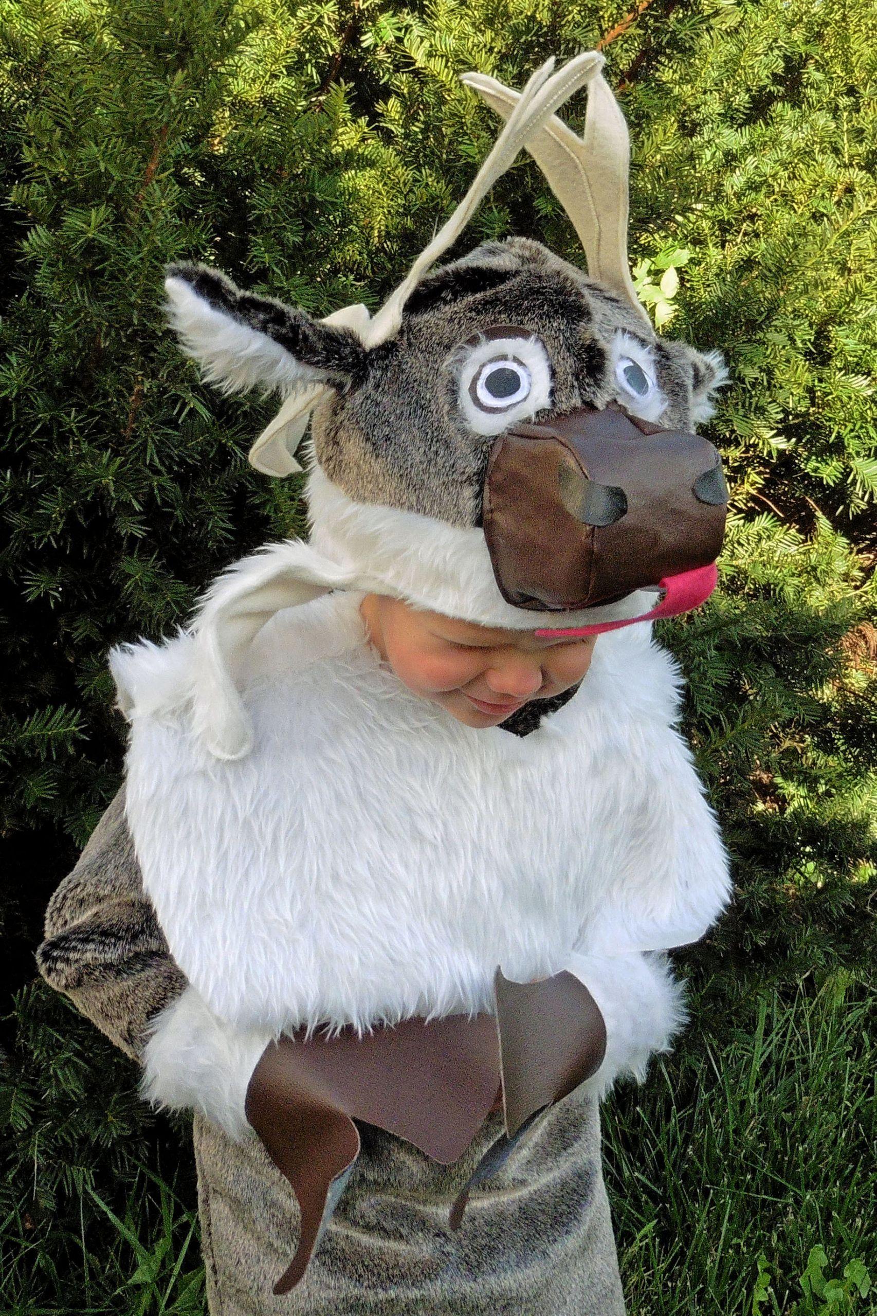 DIY Reindeer Costumes  FREE Sven Inspired Goofy Reindeer Costume Tutorial