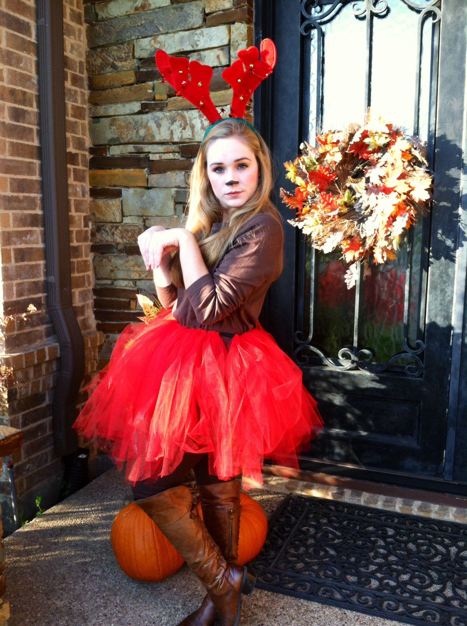 DIY Reindeer Costumes  Santa s Reindeer group Halloween costume Feat et