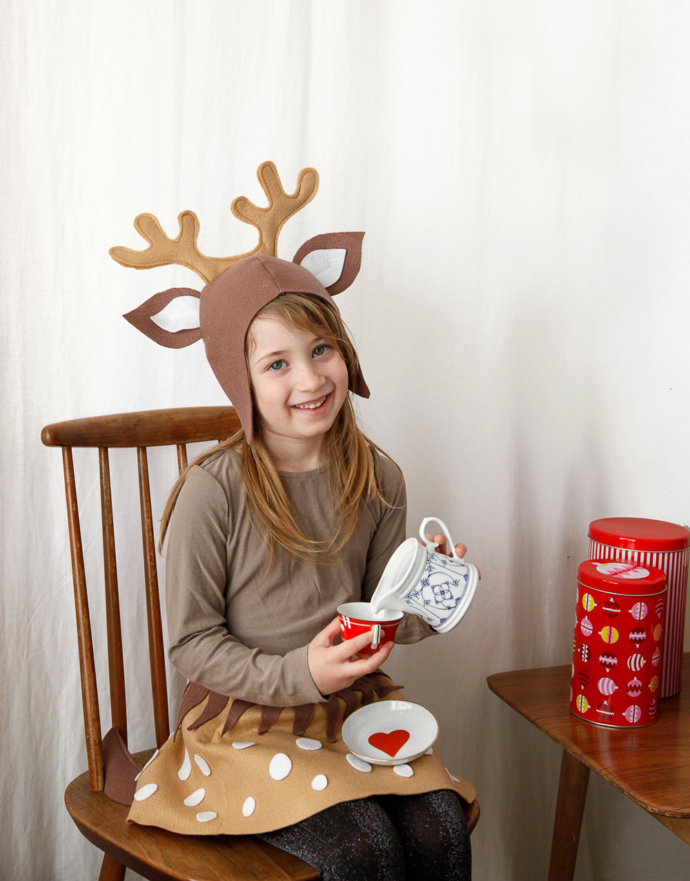 DIY Reindeer Costumes  Reindeer PATTERN DIY costume mask sewing tutorial creative