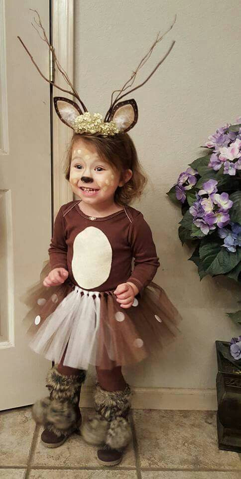 DIY Reindeer Costumes  50 Adorable Baby Wearing Halloween Costumes To Make You