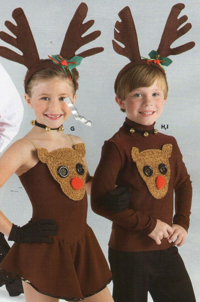 DIY Reindeer Costumes  Nwt reindeer costume holiday dance skate school girls