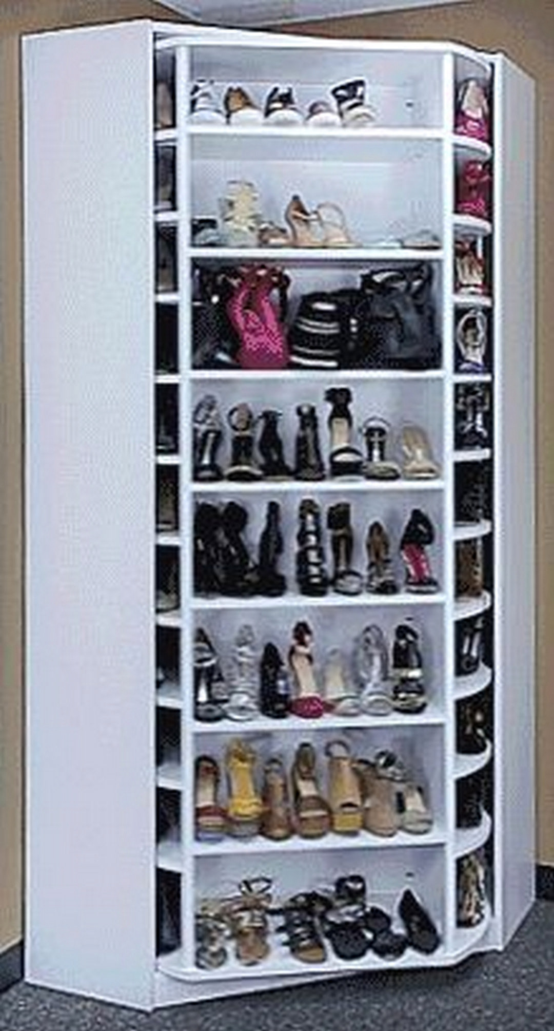 DIY Rotating Shoe Rack  Practical Shoes Rack Design Ideas for Small Homes