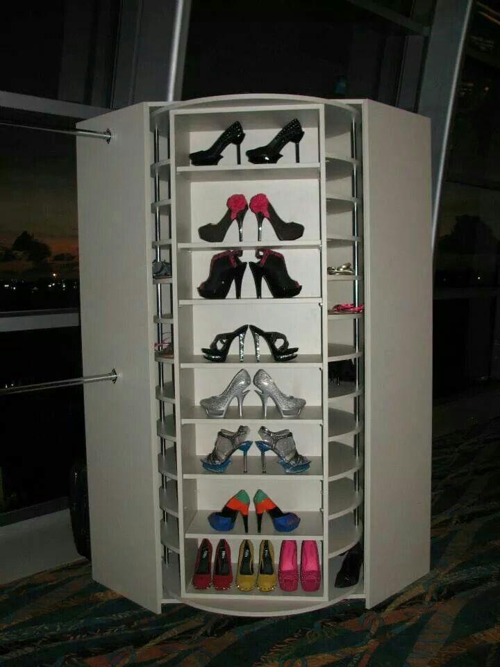 DIY Rotating Shoe Rack  Rotating shoe rack 200 pairs shoes