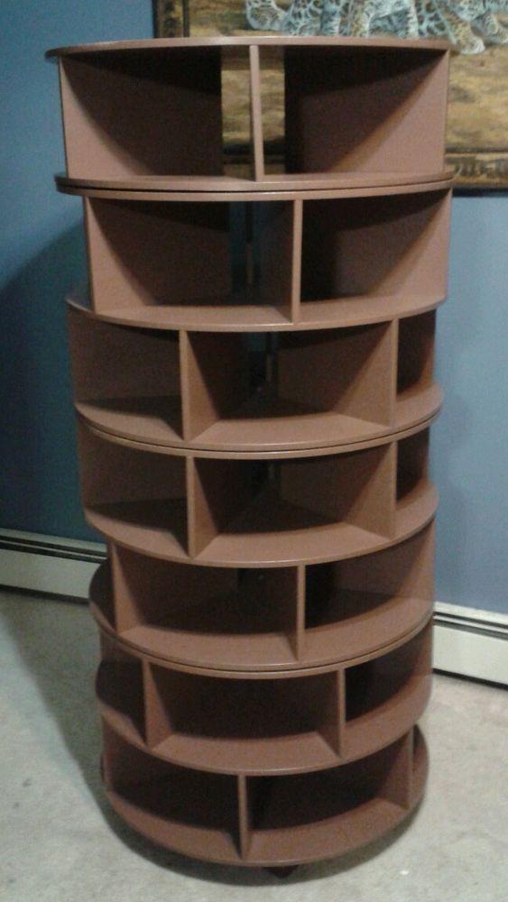 DIY Rotating Shoe Rack  Handmade Shoe Rack Seven 7 Tier Brown Swivel Rack