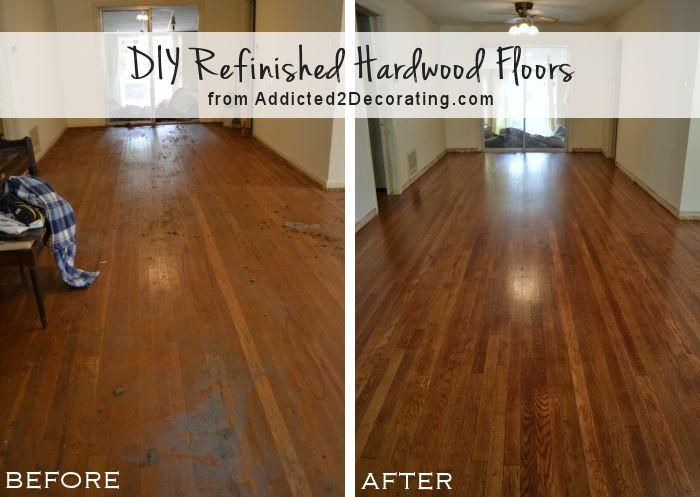 DIY Sanding Hardwood Floors  My DIY Refinished Hardwood Floors Are Finished