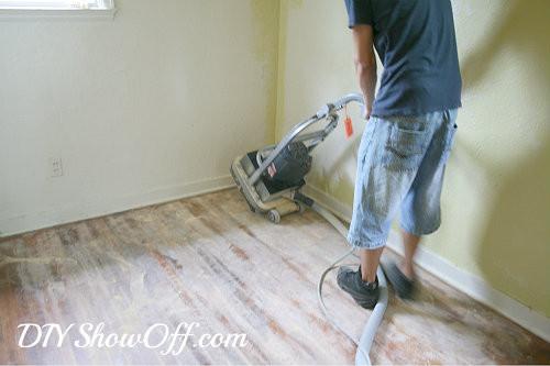 DIY Sanding Hardwood Floors  How to Sand Hardwood Floors Apartment Makeover Before